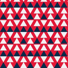 Blue & Red Triangles design by Stoflab