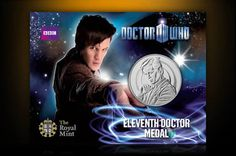 Elevent Doctor Dr Who official medal from The Royal Mint