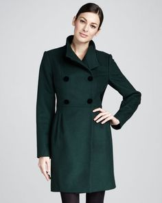 Ireland Velvet-Back Coat by Badgley Mischka Outerwear at Neiman Marcus.