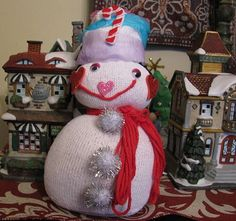 Easy sock snowman.
