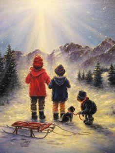 winter, artist vicki, art prints, vicki wade, christmas