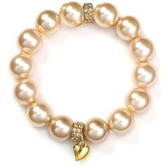 Carolee Heart Ombré Pearl Bracelet ($50) ❤ liked on Polyvore