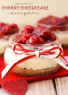 Mini Cherry Cheesecake Treats - perfect for Valentine's