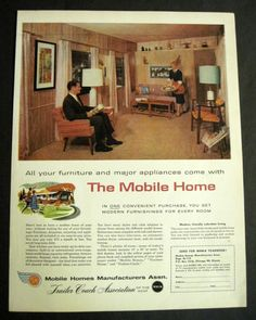 Image detail for -Vintage 1959 Trailer Coach Assn Couple in Mobile Home Living Room 50's ...