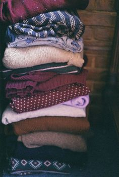 sweaters, sweaters, sweaters.