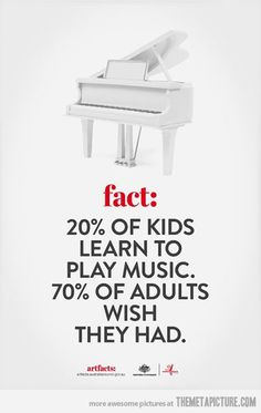 I learned music but I wish it had been on violin or piano rather than clarinet :/