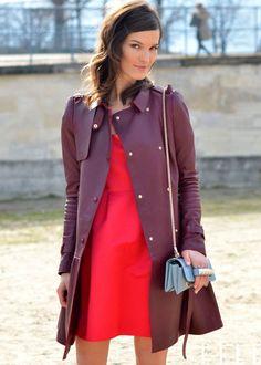 M.D. Lawson | elle: Street Chic: Paris Hanneli wearing a...