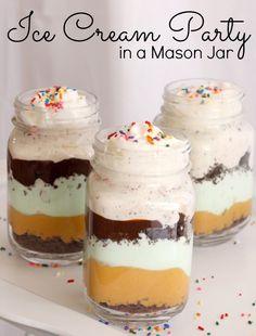 Make the most epic ice cream dessert ever in a mason jar. #NaturesSleep
