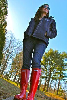 Monogrammed Rain Jacket & Hunter Boots