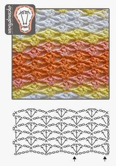 Easy checkered crochet pattern. No description, chart only.
