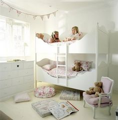 Girly bunk beds.