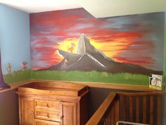 Our baby's room--lion king