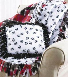 No-Sew Fleece Blanket & Pillow: No-Sew: Fleece & Flannel Projects: Shop | Joann.com