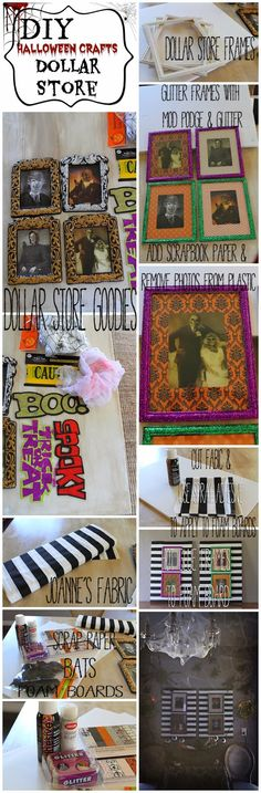 DIY: Dollar Store Halloween Haunted photos