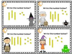 Halloween Math Task Cards For First Grade - A great Halloween resource for First Graders! I developed this adorable Halloween resource using The Common Core Standards! #tpt #halloween #math