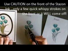 Blendabilities using White Vellum Cardstock with Deb Valder - YouTube