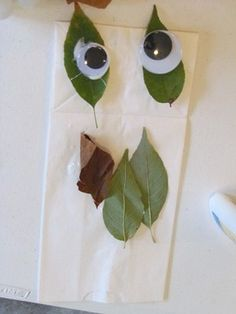 Leaf Man puppet to go with book, Leaf Man by Lois Ehlert