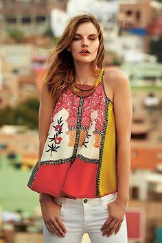 swing tank, charms, anthropologie, jardin swing, boho, tank anthropologi, white jeans, summer colors, summer tops