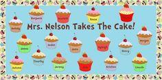 Cupcake Teacher Appreciation Bulletin Board Idea