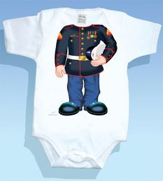 Marine Boy Onsie! Would love this with a little boy face for a tattoo. Darebear loves the marines