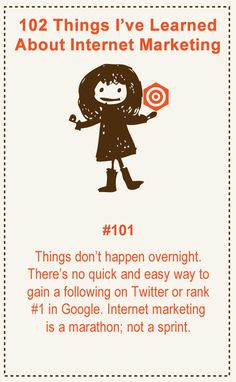 102 Things About Internet Marketing
