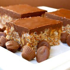 Peanut Butter & Chocolate Rice Krispie Treats