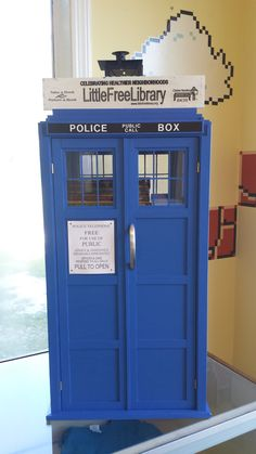 Cakeapotamus, LLC. Opelika, AL. Our TARDIS LFL was designed and built by our friend, Chris Henry. It sits in our shop, Cakeapotamus, a custom, small-batch bakery in Opelika, AL.