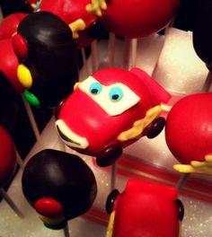 Lightning McQueen Cake pop