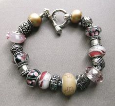 """ Big Hole Beaded Bracelet"""
