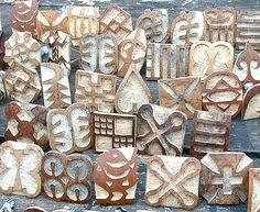 Adinkra stamps... awesome symbology