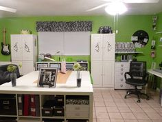 This crafter has the best ideas I have seen for organizing a craft rooms.