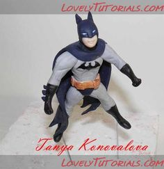 Batman cake topper tutorial cake topper tutorial, batman cakes, cake ...