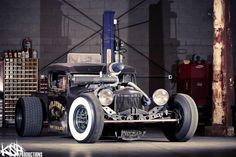 The Welderup Rat Rod was built from a 1928 Dodge 4-door and a Cummins deisel engine from 1998 Dodge truck