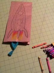 Paper bag rocket...