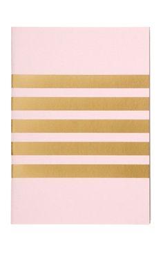 Gold foil stripe notebook.