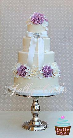 Vintage Lilac Wedding Cake