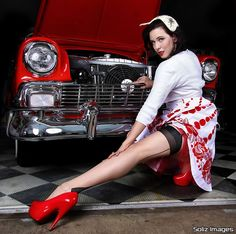 Hot rod pinup