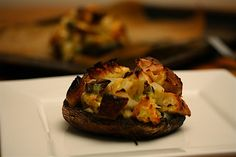 portobello mushrooms with herbed parmesan stuffing
