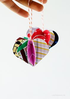 DIY Heart Christmas Baubles via Love From Ginger
