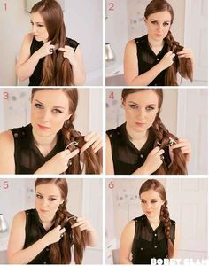 The Sailor's Knot Braid |  1) Divide hair into 4 sections. Number 1-4 from left.  2) #1 goes over #2  3) #3 goes over #4 4) #4 goes over #1 5) repeat
