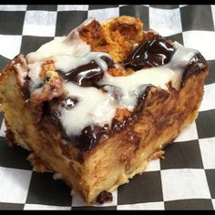 Krispy Kreme Doughnut Bread Pudding with Chocolate and Vanilla Doughnut Glaze...Heaven On Earth! by Southern Fried Country Market