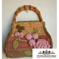 crystals, crochet flowers, bagpursetot idea, garden felt, carpet bag, carpetbag, palac yarn, crystal palace, bags