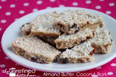 Almond Butter Coconut Bark & Coconut Almond Bark | The Unrefined Kitchen | Paleo & Primal Recipes