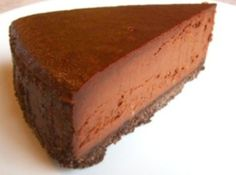 Yum... I'd Pinch That!   Chocolate Truffle Cheesecake #recipe #justapinch