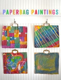 Need a canvas for your child to express his creative side? Be eco-friendly and reuse old paper bags for their artwork. They're also easy to hang! (via small for big)