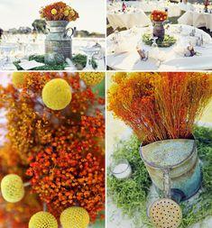 #orange wedding #afloral