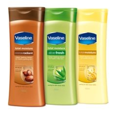 Vaseline lotion... wonderful for dry cracked skin.