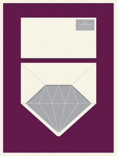 the national, graphic, jason munn, envelopes, diamonds, small stake, design blogs, posters, print