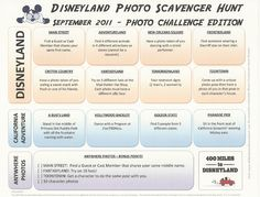 400 Miles to Disneyland: September 2011: Monthly Disneyland Photo Scavenger Hunt List -- Photo Challenge Edition!