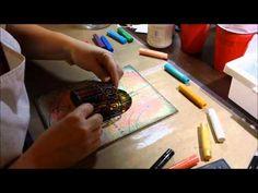 Tutorial - Mixed Media Tissue Paper Background- Gesso, gel medium, gell sticks or Gellatos
